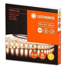 KIT 5 METROS CINTA LED ECOFLEX 3528 12W X METRO BLANCO CALIDO 2700K 12V IP65