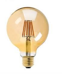 LAMPARA LED GLOBO 6 W 2700K FILAMENTO VIDRIO DORAD
