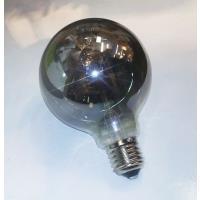 LAMPARA LED GLOBO 8 W 2700K FILAMENTO VIDRIO SILVER E27