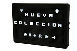 CARTELERA NEGRA LIGHT BOX 29.5CM X 20CM X 9.5CM