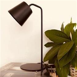 LAMPARA DE MESA KIM NEGRO ICLUYE LAMPARA LED E27