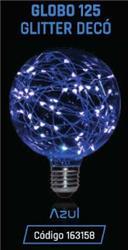 LAMPARA LED GLITTER GLOBO G125 1,5W 35LM 320° AZUL