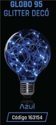 LAMPARA LED GLITTER GLOBO G 95 1,5W 35LM 320° AZUL