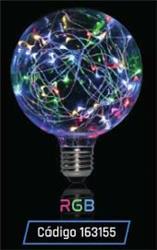 LAMPARA LED GLITTER GLOBO G 95 1,5W 35LM 320° RGB