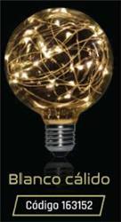 LAMPARA LED GLITTER GLOBO G 95 1,5W 35LM 320° BLANCO CALIDO