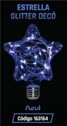 LAMPARA LED GLITTER ESTRELLA   1,5W 35LM 320° AZUL