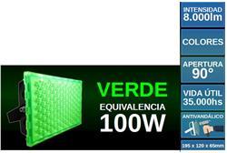 PROYECTOR LED 100W VERDE ANTIVANDALICO SUPERLUX 8000LM IP67