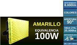 PROYECTOR LED 100W AMARILLO ANTIVANDALICO SUPERLUX 8000LM IP67