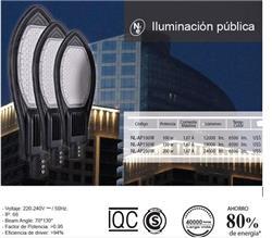 LUMINARIA LEDS 100W 12000LM IP66 40000HS 6500K