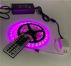 KIT CINTA LED RGB 5MT COMPLETO PARA INTERIOR 12V