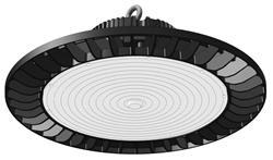 CAMPANA LED VENUS 200W 5000K NEGRO 37CM