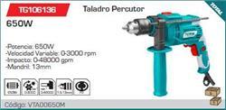TALADRO PERCUTOR 650W VELOCIDAD VARIABLE 3000R 13MM IAB.TG106136
