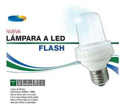 LAMPARA LED FLASH 2W LUZ DIA E27 60DEST/MINUTO