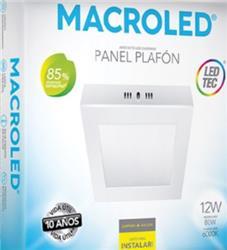PLAFON LED CUADRADO 6W  12X12 FRIO 6000K