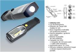 LINT.RECARG+LUZ DE EMERG - 8HS. BATER.LITIO Y USB