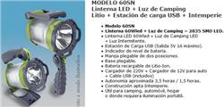 LINT.RECARG.CAMPING+SOL/NOCHE 1,5HS-BAT.LIT.+USB