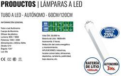 TUBO LED C/EMERGENCIA BAT. LT.3HS.AUT.10W FR.600MM