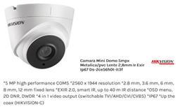 CAM.MINI DOM 5MP MET/PVC IR EXIR IP67  2CE56H0T-IT3F