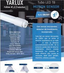 TUBO LED T8 18W G13 1198MM MOTION SENSOR