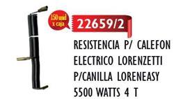 RESISTENCIA /P/CANILLA LORENEASY 5500 WATTS