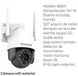 CAMARA WIFI 1080 MOTORIZADA VIS.NOCTUNA EXTERIOR