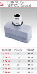 *CARCASA FICHA SALIDA VERTICAL  6 POLOS G-FV-06