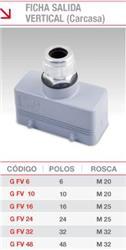 *CARCASA FICHA SALIDA VERTICAL 10 POLOS G-FV-10