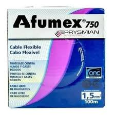 MTS.CABLE AFUMEX 750 1.5MM NEGRO