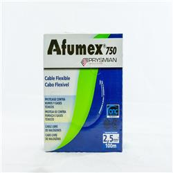 MTS.CABLE AFUMEX 750 2.5MM CELESTE