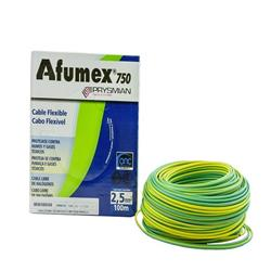 MTS.CABLE AFUMEX 750 2.5MM VERDE/AMARILLO