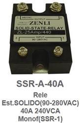 RELE ESTADO SOLIDO 40A-440V   90/280VCA SSR-A-40A