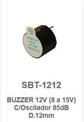 BUZZER OSCILADOR 12MM 8/15VCC SBT12