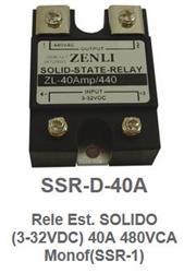 RELE ESTADO SOLIDO H/440V/40A  3-32VCC  ZENLI