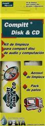 COMPITT DISK KIT DE LIMPIEZA COMPACT DISC 100CC+PAÑOS