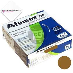 MTS.CABLE AFUMEX 750 4 MM MARRON