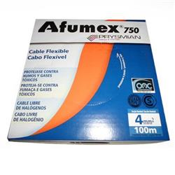 MTS.CABLE AFUMEX 750 4 MM BLANCO