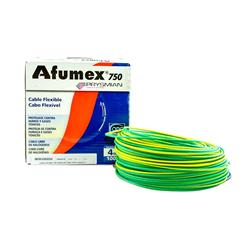 MTS.CABLE AFUMEX 750 4 MM VERDE/AMARILLO