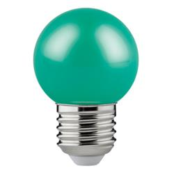 LAMP. LED GOTA COLOR VERDE 1,2W E27 LM50