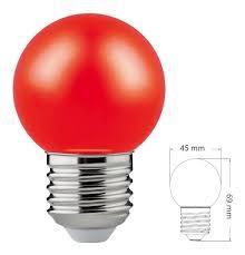 LAMP. LED GOTA COLOR ROJO 1,2W E27 LM50